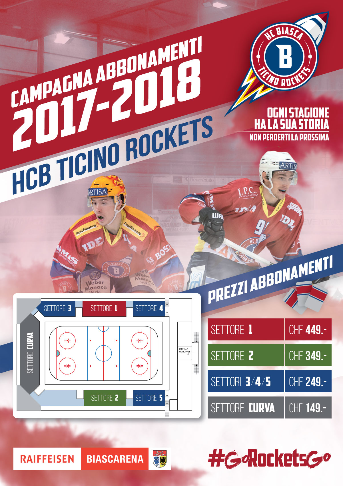 Campagna Abbonamenti Ticino Rockets